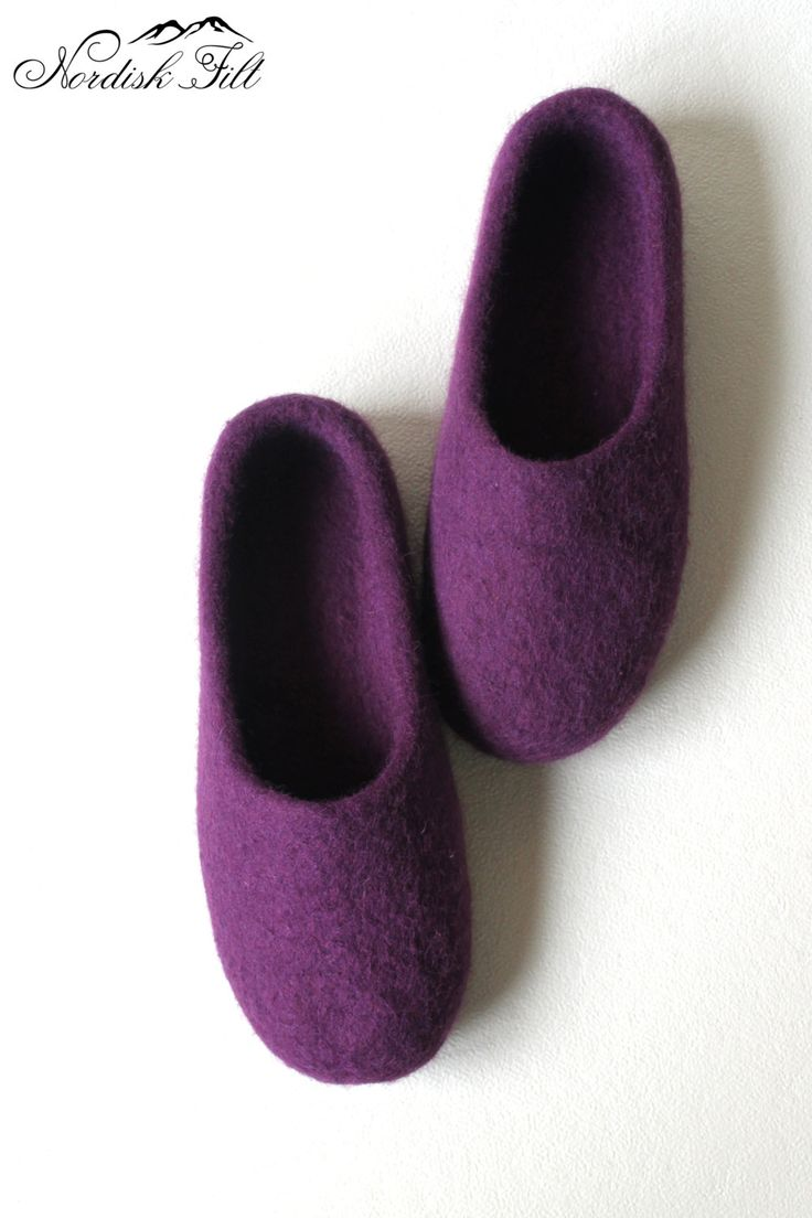 Felted wool slipper-warm house shoes-made to order by NordiskFilt on Etsy