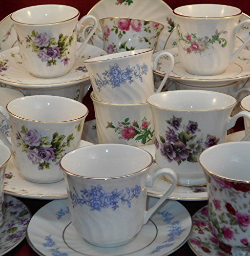 Tea Cups & Saucers, Porcelain, Assorted Case of 36 Sets, 4 to 6 Patterns Per Case Unknown http://www.amazon.com/dp/B00IMKNKE8/ref=cm_sw_r_pi_dp_0L-fub0SRHV61