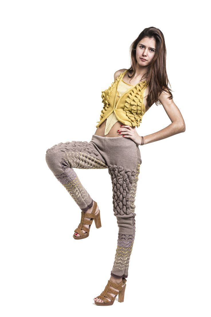 3d stitch experiment  #knitwear #design #fashion #knit #3d