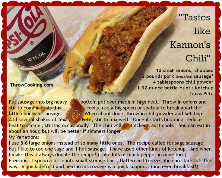 Kannons Chili Zebulon Nc Posted By Wendy Perry Hot Dog