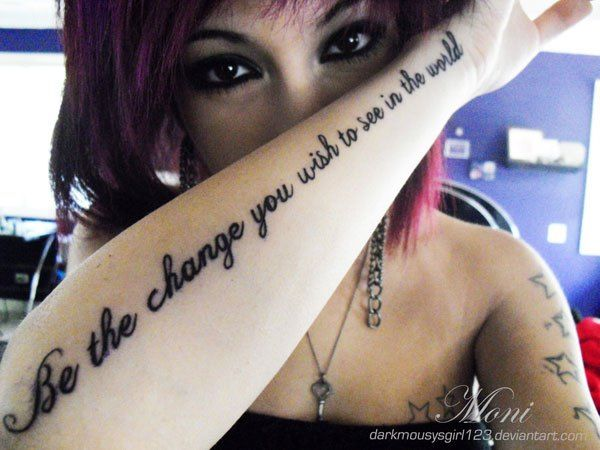 Inspirational Quote Tattoos 14