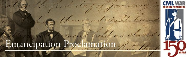 Sept 22, 1862:  Lincoln issues a preliminary Emancipation Proclamation -- learn more about it through this link