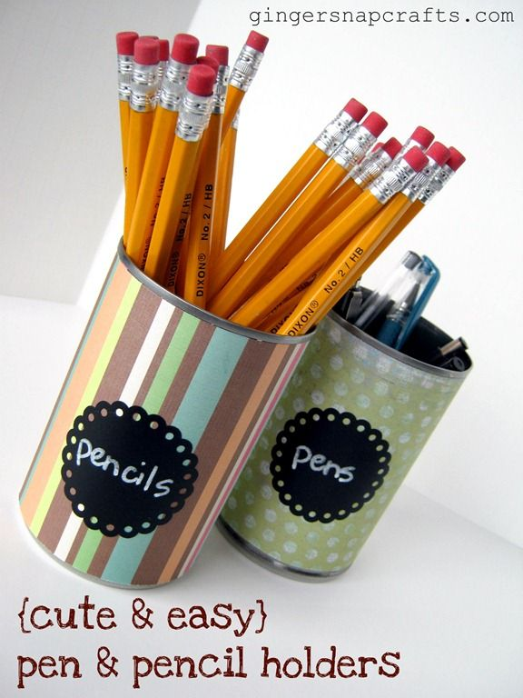 Diy pencil pen holders crafts pinterest Cool pencil holder ideas