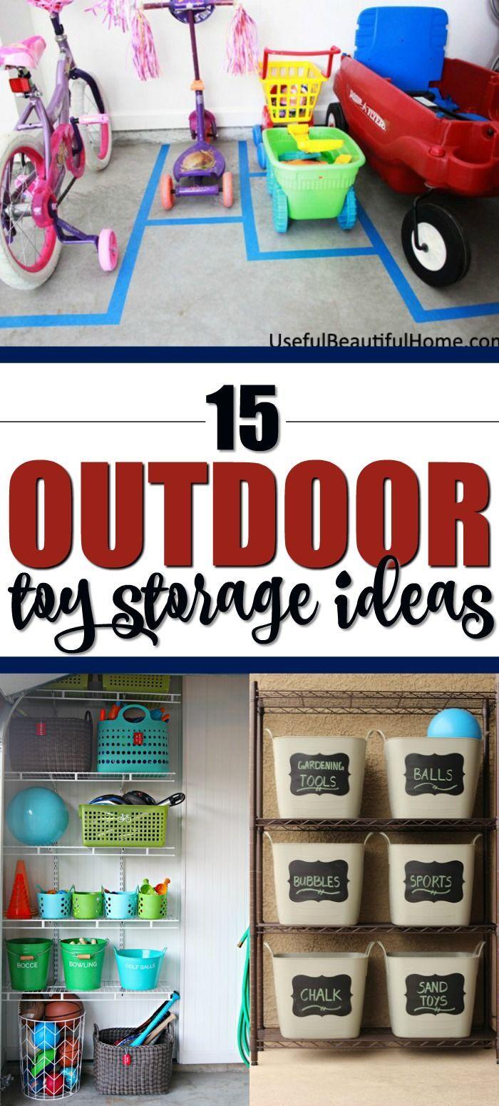 15 Outdoor Toy Storage Ideas Outdoor Toy Storage Pool Toy Storage Toy Storage