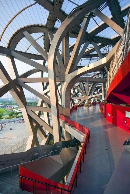 "Beijing's National Stadium ""Bird's Nest"" by	  Herzog & de Meuron"