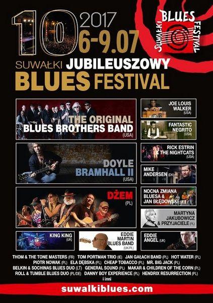 Jubileuszowy blues. Kto zagra podczas Suwałki Blues Festival 2017? Posłuchaj zapowiedzi • Niebywałe Suwałki