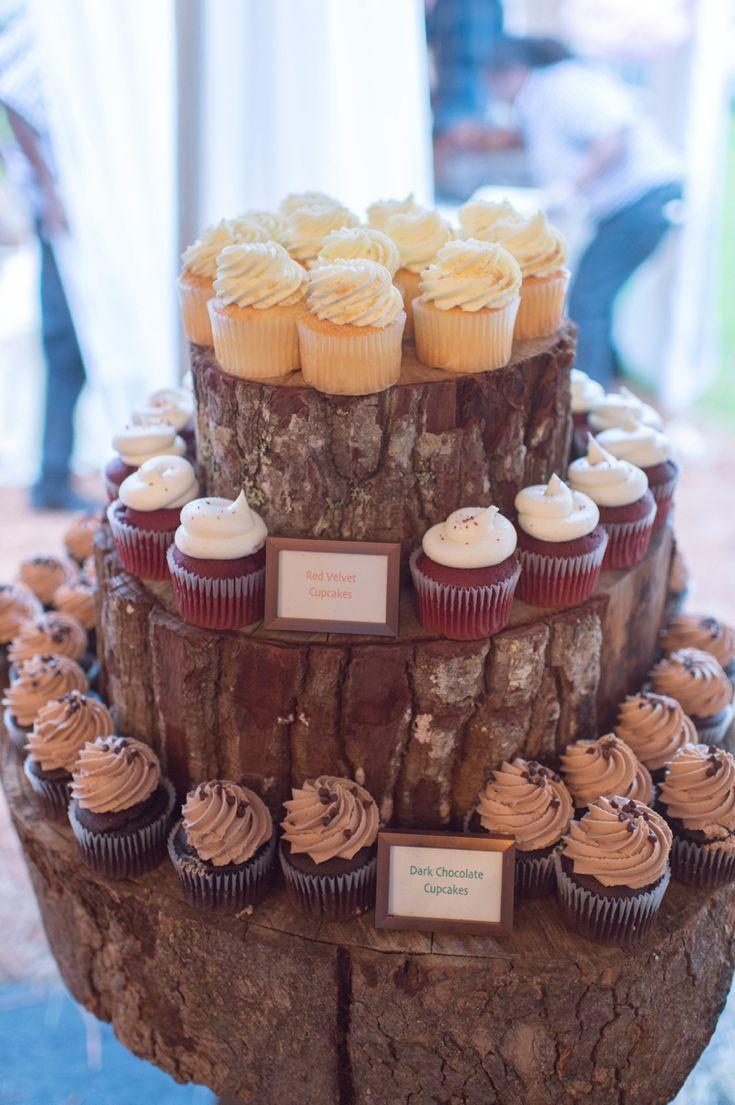 Tree Stump Cupcake Stand Jewh Cotton Core Simulation