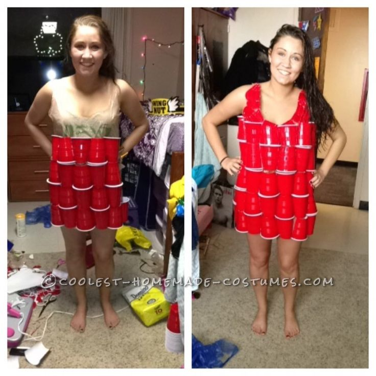 Coolest ABC Party Dress Made Out of Solo Cups and Shopping Bags
