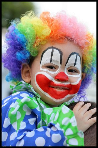 54 best maquillaje infantil images on pinterest face for Face painting clowns for birthday parties