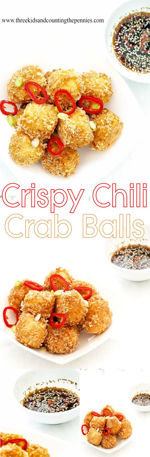 These crispy little crab balls are super addictive and take very little effort to throw together.