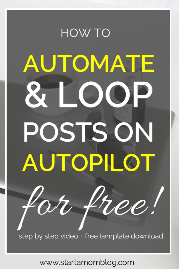 Automate and Loop social media posting on autopilot. Super awesome and free way…