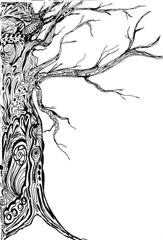 Zentangle tree ZENTANGLES DOODLES