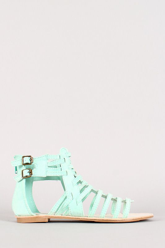 strappy gladiator sandals in mint!