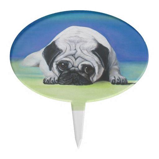 Pug Dog Cake Topper | Zazzle.com | Pug dog, Pug dog cake ...