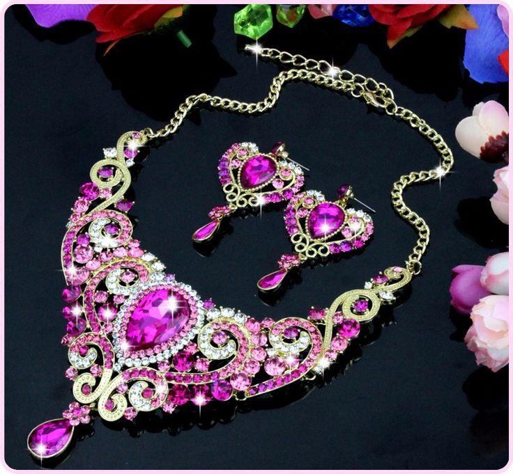 Aliexpress.com: Maynice Jewelry (Factory Direct) üzerinde Güvenilir takı sözleşmeler tedarikçilerden Lüks Altın Kaplama Kristal Kolye Kolye Damla Küpe Seti Kadınlar Düğün Balo Gelin Takı Setleri Yılbaşı Mevcut Hediye Satın Alın