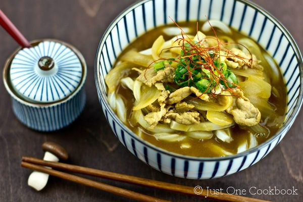 Curry Udon | other  Easy Japanese udon Recipes at JustOneCookbook.com   Yaki Udon 焼きうどん Coconut Curry Nikujaga 肉じゃが, Japanese Beef Curry ビーフカレー, Spicy Shoyu Ramen 醤油ラメーン, Kitsune Udon きつねうどん, Nabeyaki Udon 鍋焼きうどん, Mentaiko Pasta | Spicy Cod Roe Pasta 明太子パスタ,