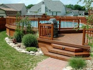 Swimming Pool Decks | Swimming Pool Hut .... love this deck onto the pool