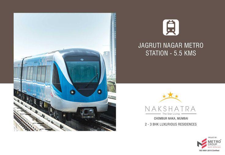Nakshatra - The Star Living 2 & 3 BHK in the heart of Chembur Jagruti Nagar Metro Station - 5.5 Kms www.metrogroupindia.com #Nakshatra #RealEstate #MetroGroup #Chembur #Mumbai