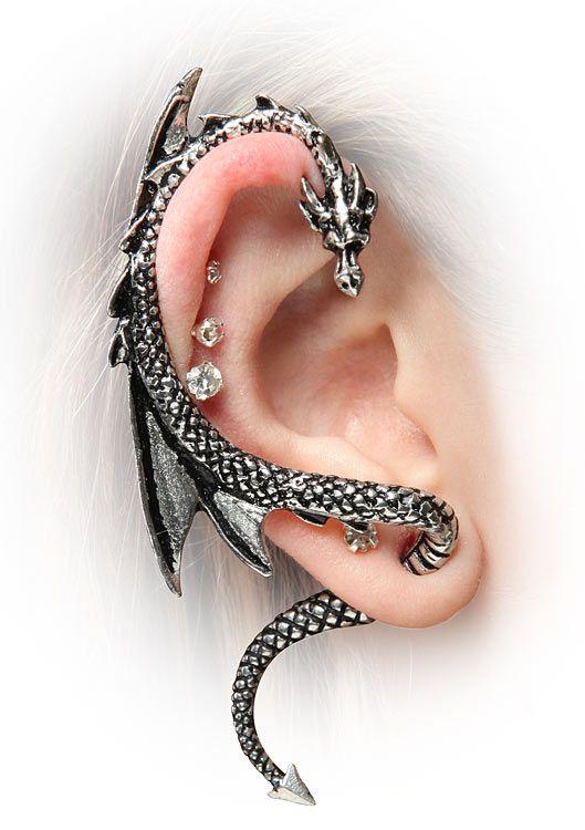 Jewelry Pagan Wicca Witch:  Dragon Ear Wrap.