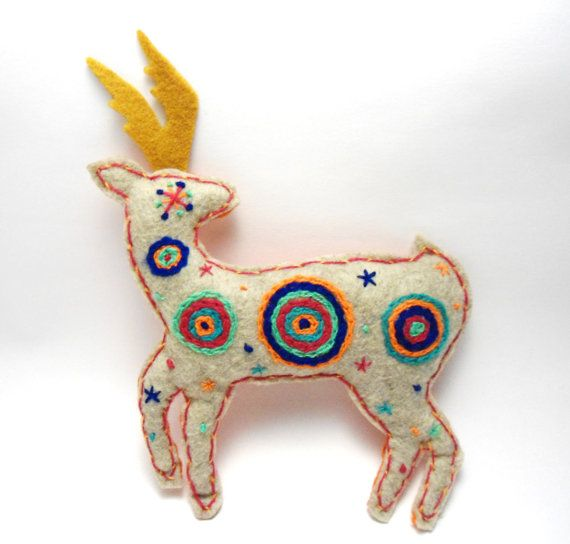 The Deer Sacred Animals by romualda on Etsy, $45.00