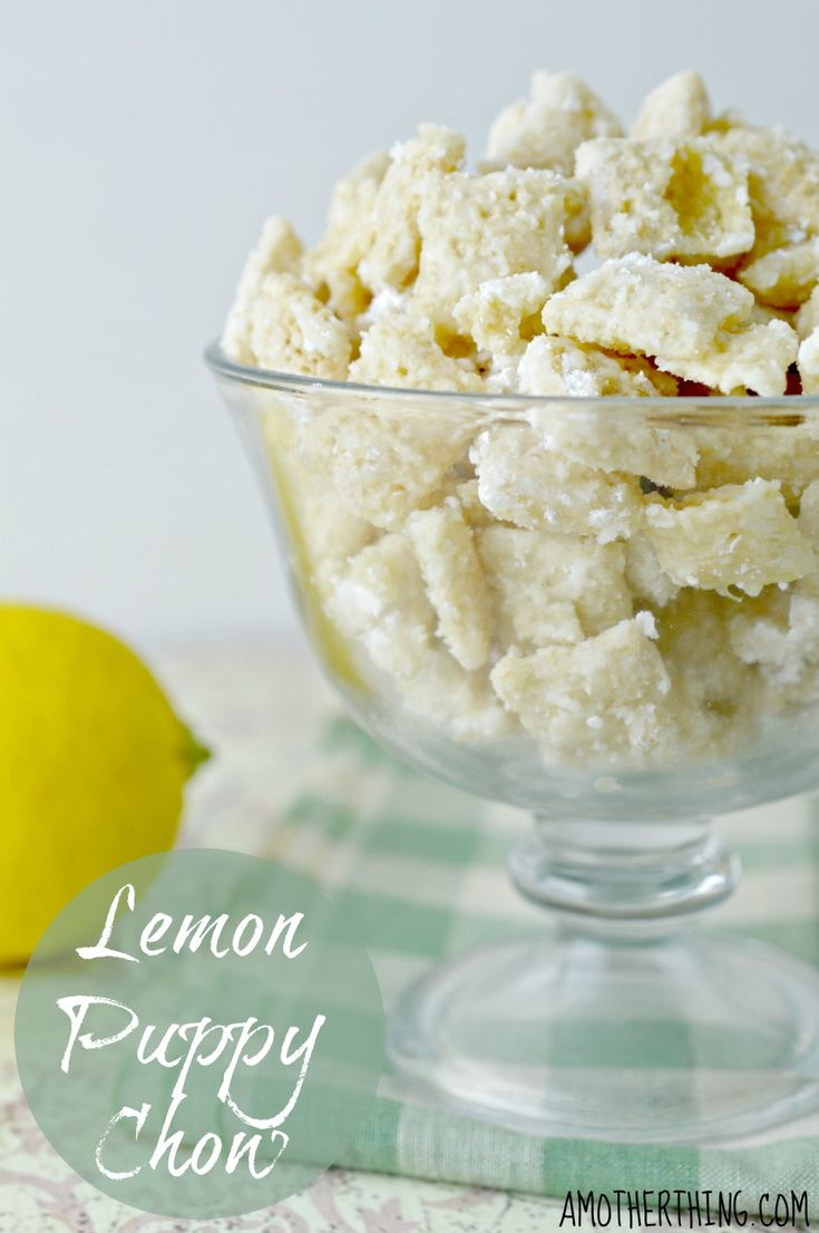 Vanilla Lemon Puppy Chow | A Mother Thing