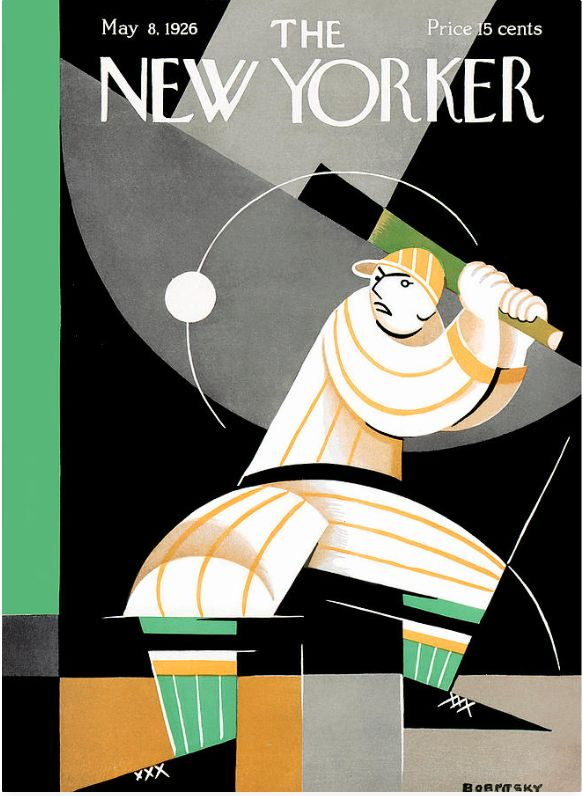 Swing for the bleachers. @newyorkermag Cover illustration for the May 8, 1926 issue. #worldseries #baseball #thenewyorker #findyourstory To purchase a print, visit condenaststore.com/?utm_content=bufferc135d&utm_medium=social&utm_source=pinterest.com&utm_campaign=buffer