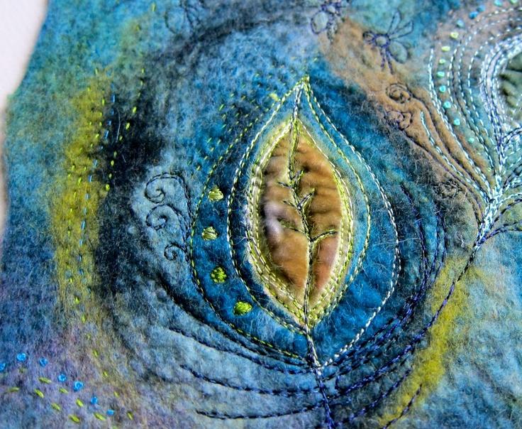 Beautiful stitching and colours.