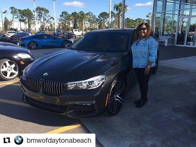 #Repost from @bmwofdaytonabeach --- Congratulations to Mrs. Johnson on the purchase of her 6th #BMW from @fieldsbmw a new #740i from our location in #DaytonaBeach. Thanks for choosing @fieldsautogroup Mrs. Johnson! #FieldsMattersBecauseYouMatter  #newbmw #newbimmer #bmw740i #fieldsbmwofdaytona #florida #7series #luxurycars #fieldsbmw #fieldsauto #BMW #Lakeland #FieldsBMW