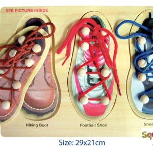 What a cool concept!  A wooden puzzle AND teaches your child how to tie their shoelaces!  Educational and fun all rolled into one! RRP $11.95 http://squoodles.co.nz/products/shoe-lacing-wooden-puzzles-for-kids