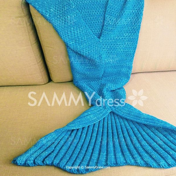 Fishtail Blanket Knitting Pattern : Knitted Warm Fishtail Blanket Warm, For women and Chic