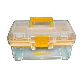 Homak 15.5-In Clear Plastic Lockable Tool Box Tp00115088