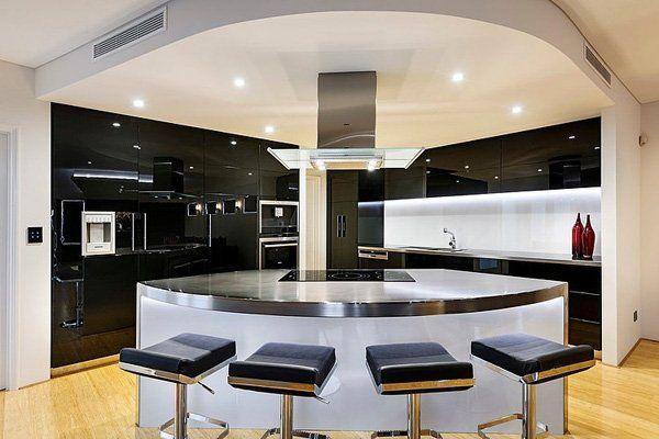 Diseños de Cocinas Curvas