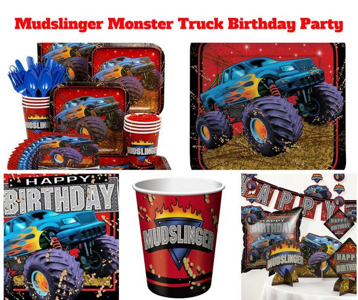 Mudslinger Monster Truck Birthday Party
