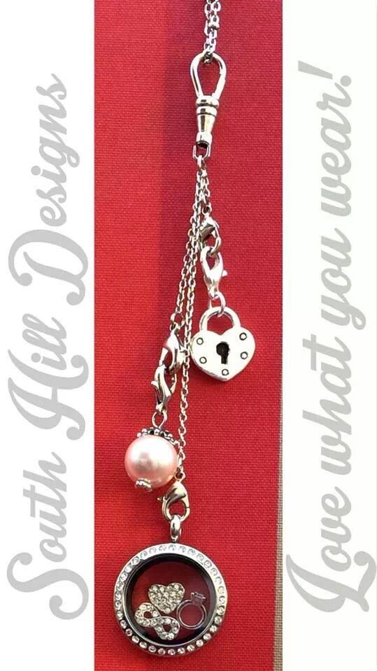 Beautiful South Hill Designs Crystal Locket with Droplets. 69.00