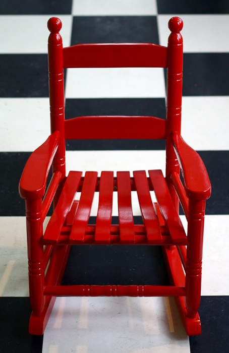 Ah, I had one just like this when I was a girl and it was passed to my children and grands.  qb red rocking chair