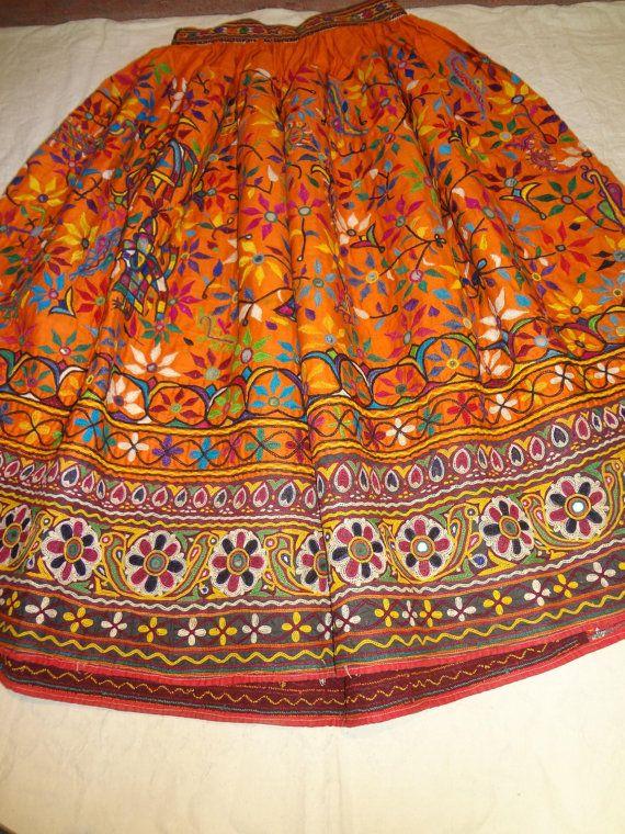 belly dancers skirts/vintage skirts / banjara skirts/tribal indian skirts/  tribal clothes /hand made skirts/ shisha work skirt