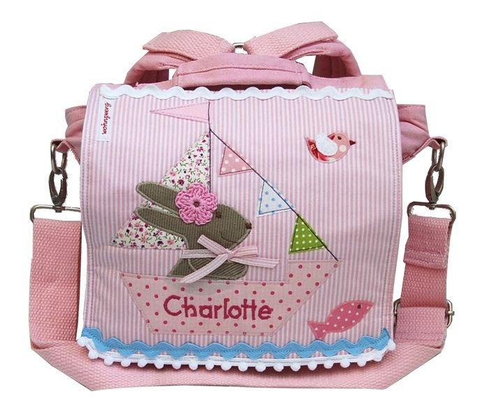 Kindergartentaschen - Kindergartenrucksack mit Namen - Ahoi, Hase Rosa!- - ein Designerstück von wohnzwerg bei DaWanda