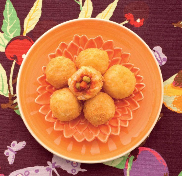 Mini arancini al forno con piselli - Cucina Naturale