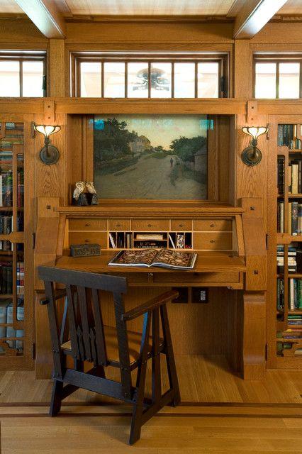 25 best ideas about craftsman desks on pinterest for Craftsman style office