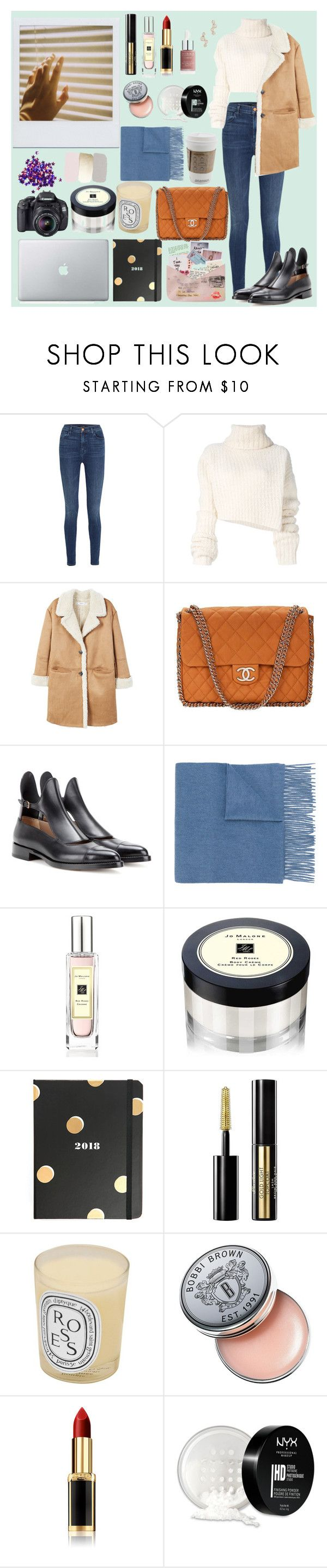 """""""Inspired by Marie Novosad №4"""" by mvr-nov ❤ liked on Polyvore featuring J Brand, Ann Demeulemeester, MANGO, Chanel, Francesco Russo, N.Peal, Jo Malone, Kate Spade, Guerlain and Diptyque"""