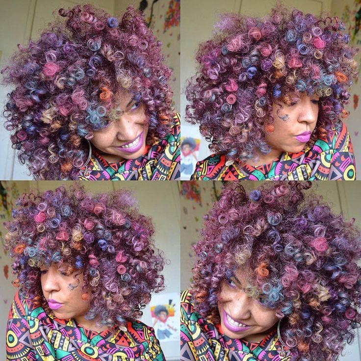 Rainbow curls @naturallytash - https://blackhairinformation.com/hairstyle-gallery/rainbow-curls-naturallytash/