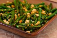 green beans with lemon, parmesan and pine nuts #primal