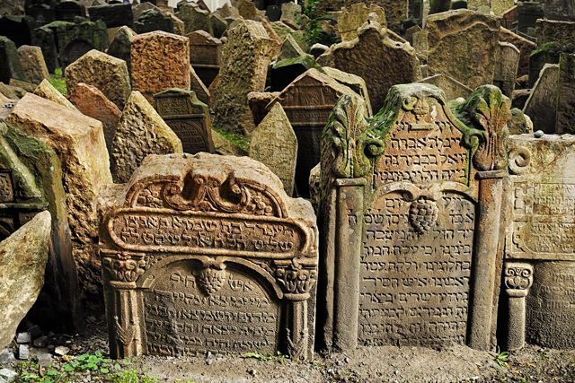 These Are The Creepiest Destinations In The World #refinery29  http://www.refinery29.com/cool-cemetery-photos-around-the-world#slide-10  Old Jewish Cemetery, PragueThis melancholy graveyard is made even more eerie by virtue of its 12 layers of graves, which have been accumulating since the 15th century. According to halacha, or Jewish religious law, graves can't be destroyed, nor tombstones removed (instead, they've been reset into each new layer of soil). The result is close-set grave…