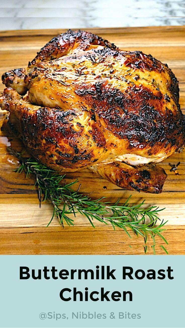Buttermilk Marinated Roast Chicken Recipe Chicken Recipes Roast Chicken