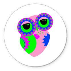 Розовая сова