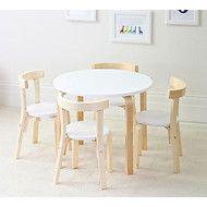 Childrens Birch Wood table & 4 chairs set Australia - Hip Kids