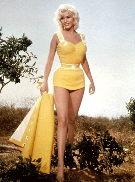 1950's Hollywood actress Jayne Mansfield.
