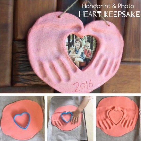Handprint and Photo Keepsake