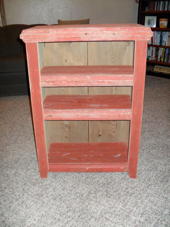 Red Barn Wood Cabinet