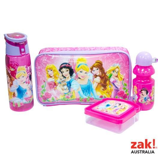 Back to School, On the Go, Snap Snack & Sandwich Containers, Disney, Princess, zak, zakau, australia, lunch box, drink bottle, hydro canteen, bread shaped container, insulated bag,